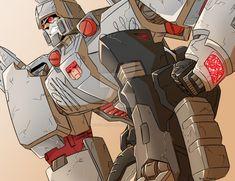 Megs by Blitzy-Blitzwing Transformers Megatron, Optimus Prime, Guerrilla, Marvel Heroes, Cool Art, Fanart, Nerd, Trucks, Comics