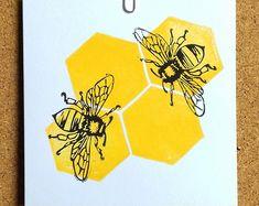 - On My Block Watercolor Art, Art Painting, Bee Art, Art Drawings, Linocut, Screen Printing, Art, Linocut Art, Prints