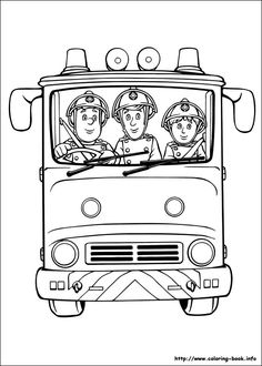 52 Free Fireman Sam colouring pages, free online sheets for fire fighters for children. These boys colouring book pages will be loved by your little man. Fireman Sam colouring sheets are fun and educational. Print, paint or colour in Sam and Friends Truck Coloring Pages, Colouring Pics, Coloring Book Pages, Printable Coloring Pages, Coloring Pages For Kids, Coloring Sheets, Fireman Party, Fireman Sam, Party