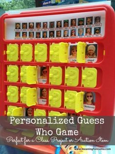school auction class project ideas | Classroom Auction Idea - Personalized Guess Who Game - Meaningfulmama ...