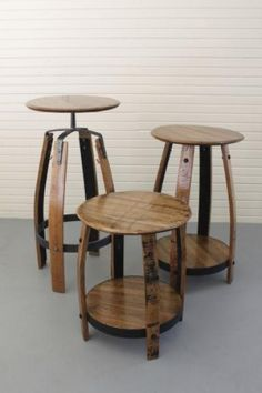 11 best wine and bourbon barrel furniture images bourbon barrel rh pinterest com