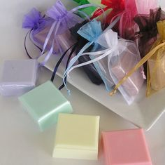 Soap Favors - Handmade Glycerin Soaps - Bridal Shower - Wedding Favor - Party Favors - Choose scent and color Scented Retreat