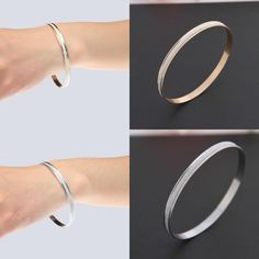 1pc Charms Gold/Silver Alloy Bangle Womens Fashion Jewellery Cuff Bracelet New