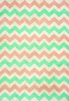 Coral Mint Chevron Pastel Iphone Wallpaper Backgrounds Pattern