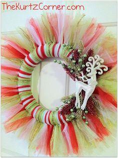 """The Kurtz Corner"": Tulle Christmas Wreath"
