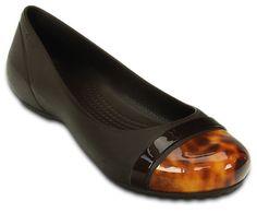Crocs Women's Cap Toe Tortoise Flat | Women's Comfortable Flats | Crocs Official Site