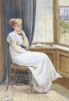 Waiting and wondering... the Regency woman... Frederick Alfred Slocombe