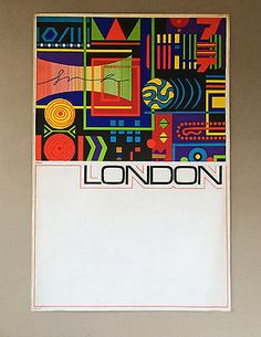 Vintage #1960s coach bus transport london travel #poster karo #modernist retro,  View more on the LINK: http://www.zeppy.io/product/gb/2/121894624880/