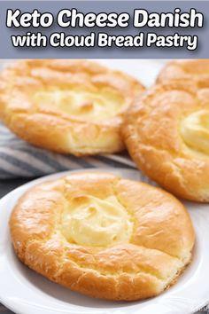 Cream Cheese Danish, Cream Cheese Breakfast, Cream Cheese Bread, Breakfast Gravy, Cheese Dog, Bon Dessert, Danish Food, Low Carb Desserts, Health Desserts
