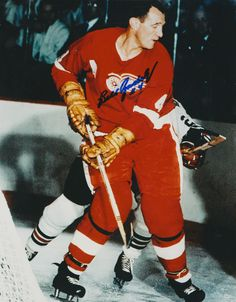Bill Gadsby (1) - Detroit Red Wings - NHL Hockey Pictures & Autographs - NHL Autograph