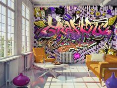 Foto Tapete Wand-Wandbilder Vlies Graffiti farbenfrohes modernes Design Aufkleber Schlafzimmer Wandtattoo nach Hause Design Wandkunst Decals 359 von GlitterBlast auf Etsy https://www.etsy.com/de/listing/494793773/foto-tapete-wand-wandbilder-vlies