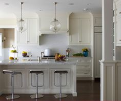 cabinets, pendant lights