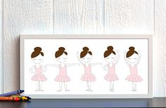 This shows the 5 ballet positions that I'd like done but we only need the first and second this term.