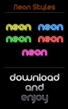 Neon Styles by ~Wearwolfaa on deviantART