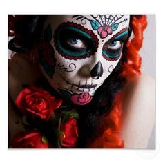 Dia de los Muertos -- Mexican Day of the Dead Face Painting and Makeup Ideas
