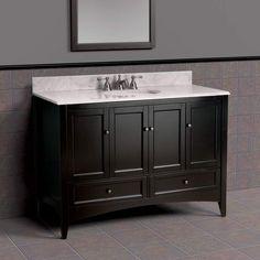 Master  Berkshire 48 Inch Bath Vanity In Espresso BECA4821d 48 W X 21 3
