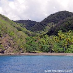 Secluded beaches along the coast of St Lucia www.mrbelltravels.com