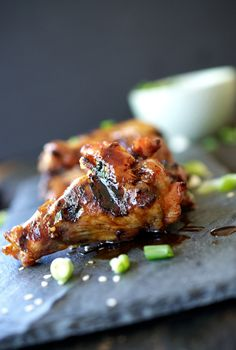 Grilled Asian Chicken Wings | Up Close & Tasty | #chicken #Asian #recipe