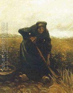 Woman Lifting Potatoes Vincent Van Gogh Reproduction | 1st Art Gallery