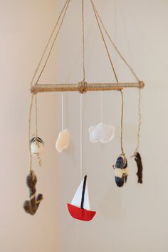 Nautical Felted Mobile on Etsy, $65.00