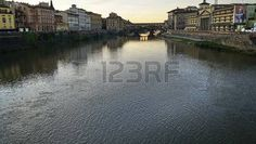 Ponte Vecchio at sunset, Florence, Tuscany, Italy Editorial