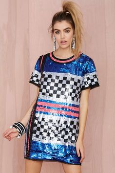 Nasty Gal Space Oddity Sequin Dress | Shop What's New at Nasty Gal
