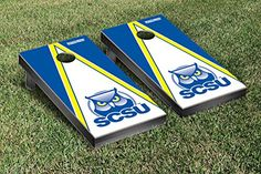 Southern Connecticut State Owls Cornhole Game Set Triangle Version *** Click image for more details.