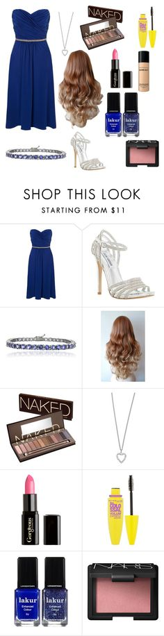 """""""blue bridesmaids"""" by ashtaylor9955 ❤ liked on Polyvore featuring Ariella, Steve Madden, Glitzy Rocks, Urban Decay, Yves Saint Laurent, Gorgeous Cosmetics, Maybelline, Londontown, NARS Cosmetics and Bare Escentuals"""