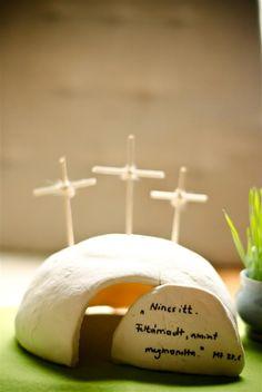 Húsvét - Só-liszt gyurma sír Easter Craft - Salt Dough Tomb