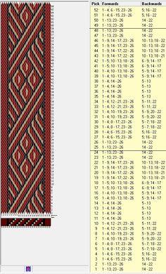 26 tarjetas, 3 colores, repite cada 24 movimientos // sed_388 diseñado en GTT༺❁