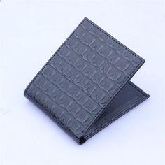 89ae682a9e 2018 moda in pelle PU fermasoldi portafoglio uomo portafogli piccoli soldi  borsa Bifold borse pratico portafoglio