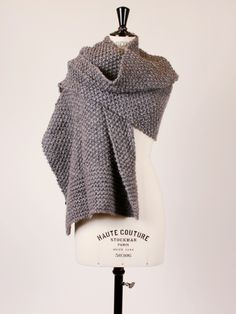 Knitted scarf from Designers Remix (garter + moss)