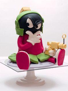 Marvin The Martian Cake by studiocake, via Flickr