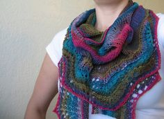 colorful knitted shawl