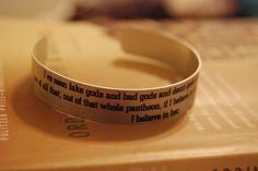 Dr Who quote bracelet (10th Doctor about | http://cosplaycollections.blogspot.com