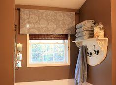 Shelf idea for above tub in master bath. The Yellow Cape Cod: Bathroom Upgrades