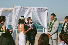 Jehan & Devyn's Coronado Community Center Wedding - by AshGabes Photography