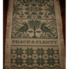 Primitive Peace n Plenty Runner Olive 14 x 40