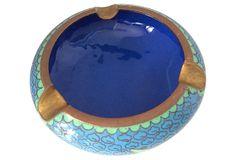 1960s Cobalt Blue Cloisonné Ashtray on OneKingsLane.com