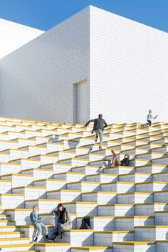 Completed in 2017 in Billund, Denmark. Images by Iwan Baan, Kim Christensen. BIG-Bjarke Ingels Group and LEGO bring the toy scale of the classic LEGO brick to architectural scale with LEGO House, forming vast exhibition spaces. Danish Architecture, Magazine Architecture, Architecture Cool, Contemporary Architecture, Landscape Architecture, Landscape Design, Bjarke Ingels Architecture, Architectural Scale, Architectural Pattern