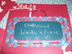 Denise has a Great idea! Make your own Real Chalkboard on your scrapbook pages or on cards. She has the svg file too. They have this paper at Michaels.