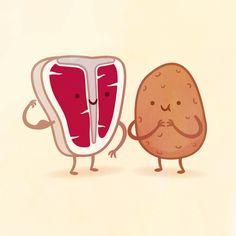 Steak and Potato by Philip Tseng
