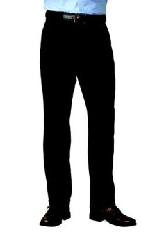 Saddlebred Black Big  Tall Straight Fit Flat Front Wrinkle Resistant Dress Pants