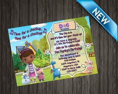 Hey, I found this really awesome Etsy listing at https://www.etsy.com/listing/216904170/doc-mcstuffins-invitation-doc-mcstuffins