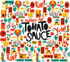 Tomato Sauce Packaging by Sabrina Smelko #pattern #illustration #packaging #branding