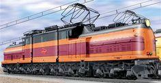 Milwaukee Road EP-2 Bi-Polar Electric Locomotive.