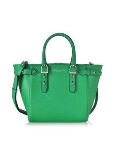 #Mini marylebone borsa in pelle saffiano verde  ad Euro 840.00 in #Borse borse donna #Moda