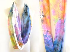 Splash Dyed Hand PAINTED Slouchy Jersey Circle by twostringjane on Etsy