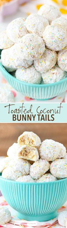 Toasted Coconut Bunny Tails! - AKA Snowballs, but for Easter! Coconut flavored and delicious! : lifeloveandsugar