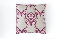deer damask | fabric and cushions